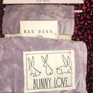 Rae Dunn Blanket BUNNY LOVE PEEPS HAPPY SPRING